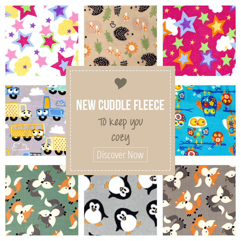 Look at this cozy new cuddle fleece with fantastic designs!