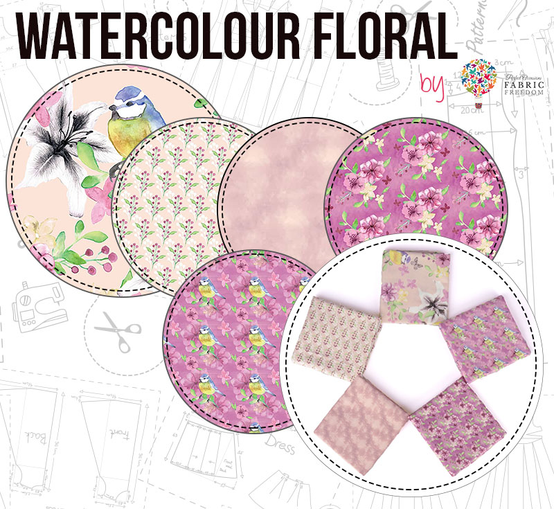 Watercolour Floral by Fabric Freedom