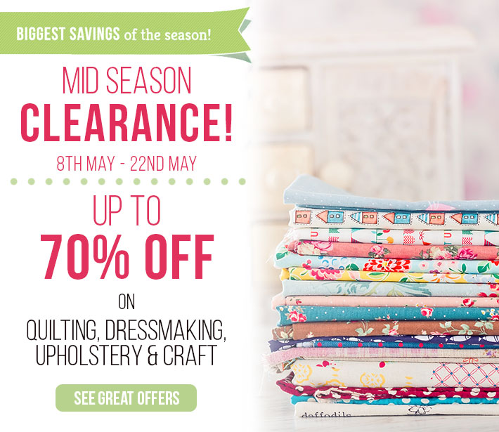 Mid Season Clearance with up to 70% off!