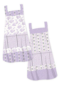 These gorgeous aprons demonstrate what can be achieved with this collection