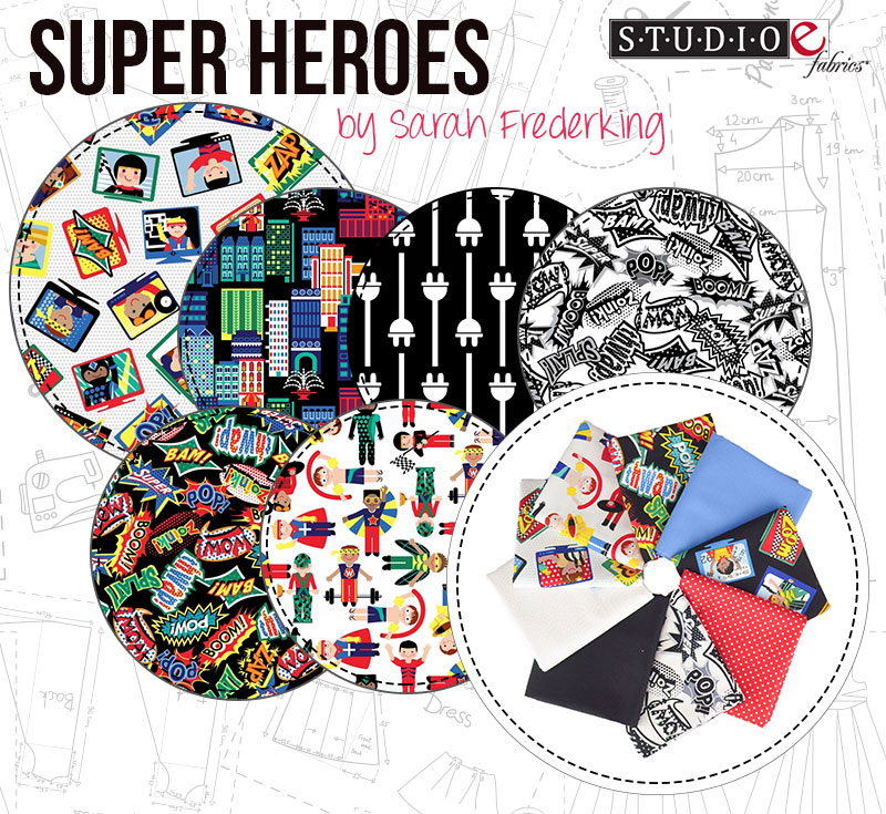 Super Heroes by Sarah Frederking for Studio E
