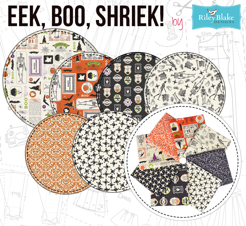 Eek Boo Shriek by Riley Blake is a lovely halloween collection!