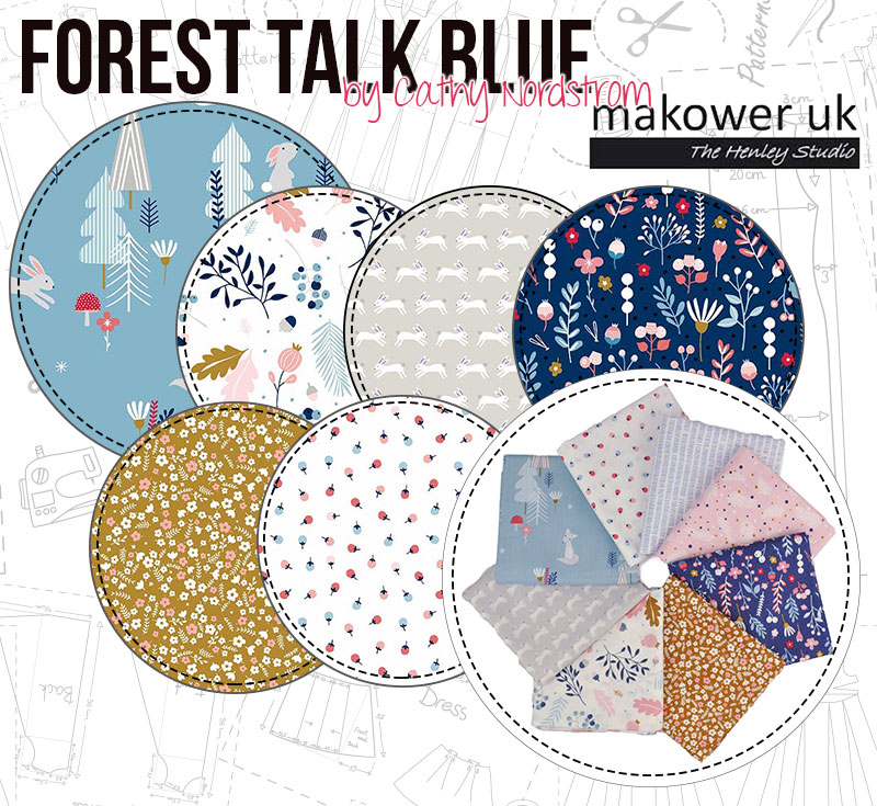 Forest Talk Blue is a stunning colourway that will look brilliant in any room!