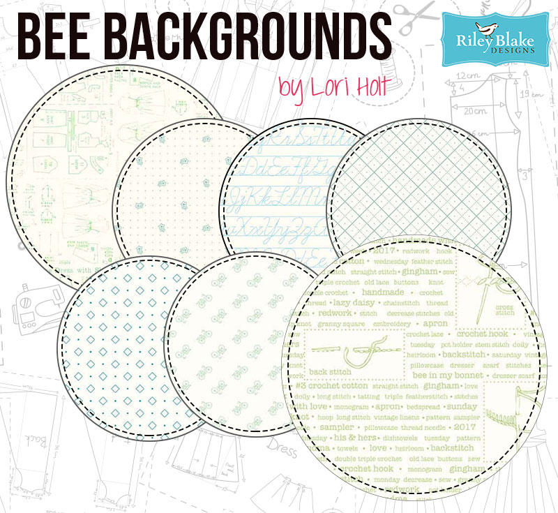 Bee Backgrounds by Lori Holt for Riley Blake