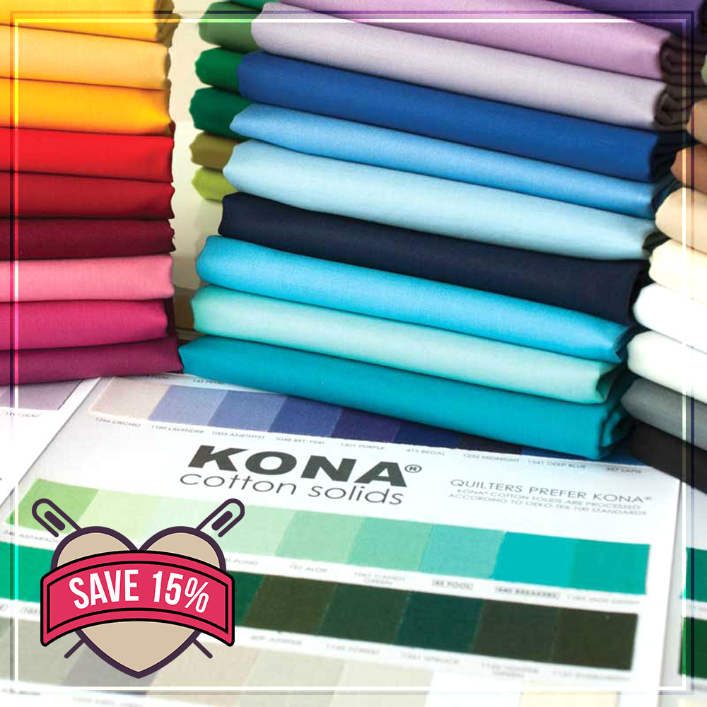 Save 15% Off Kona Fabric - Summer Of Sizzling Offers
