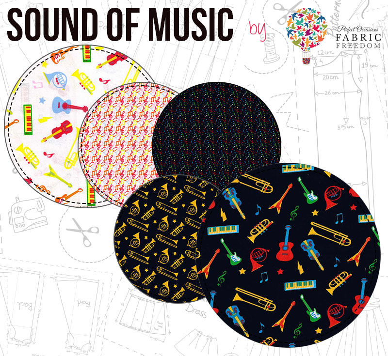 Sound Of Music by Fabric Freedom