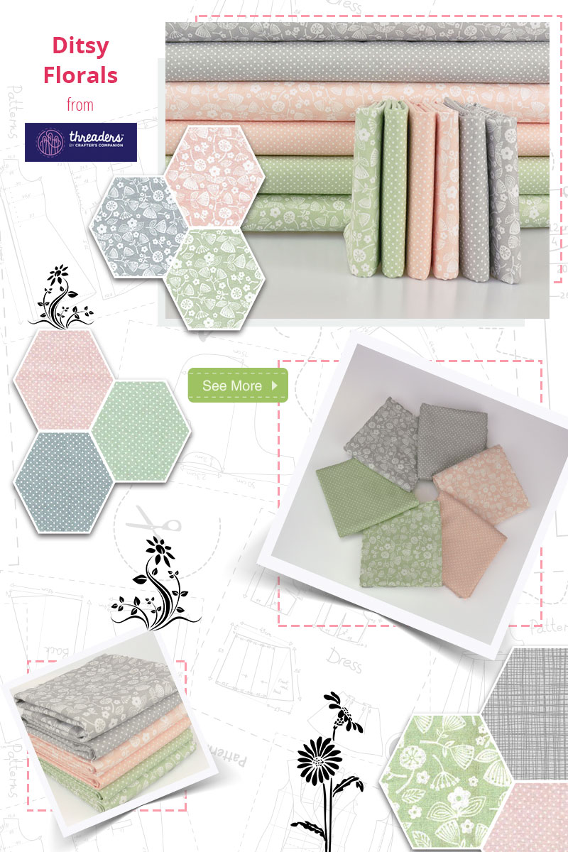 Ditsy Florals is a simple, yet elegant collection that will look great in any project!