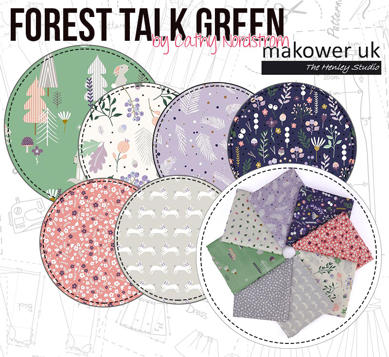 Forest Talk Green looks beautiful with the adorable creatures on it's designs!