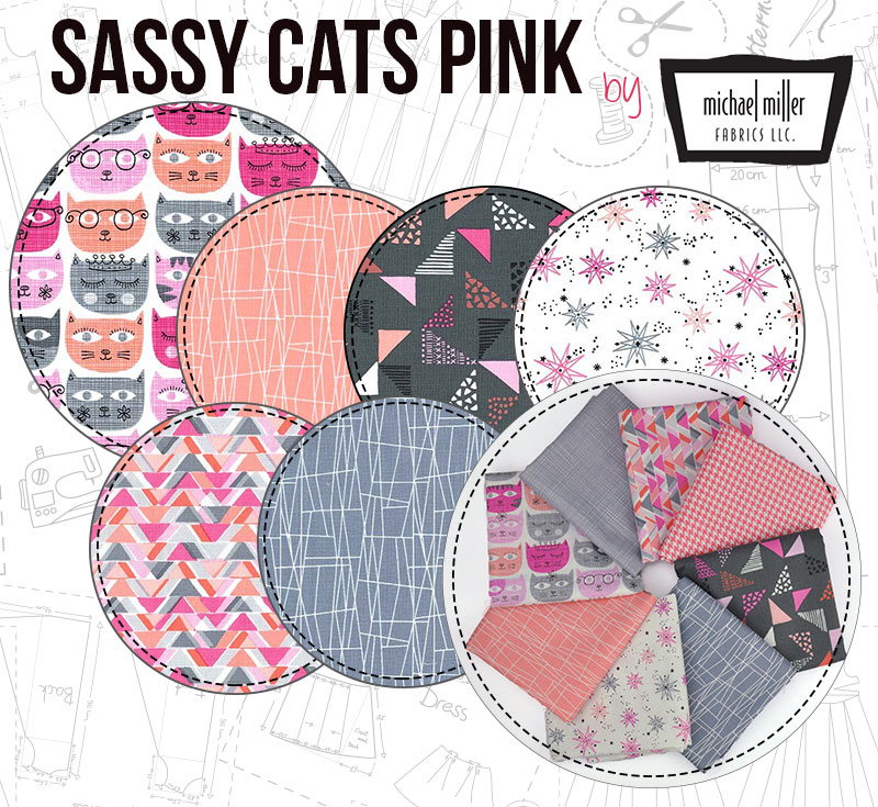 Sassy Cats Pink is a fabulous colourway that will bring joy to all your projects!