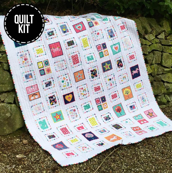 A gorgeous quilt kit for an adorable collection!