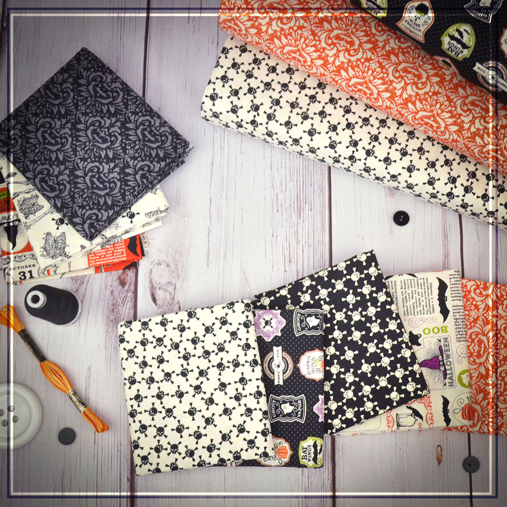 Eek Boo Shriek is classically black, white and orange - perfect for halloween!