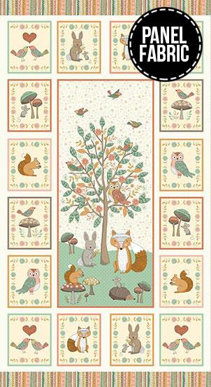 Doodle Days Panel Fabric