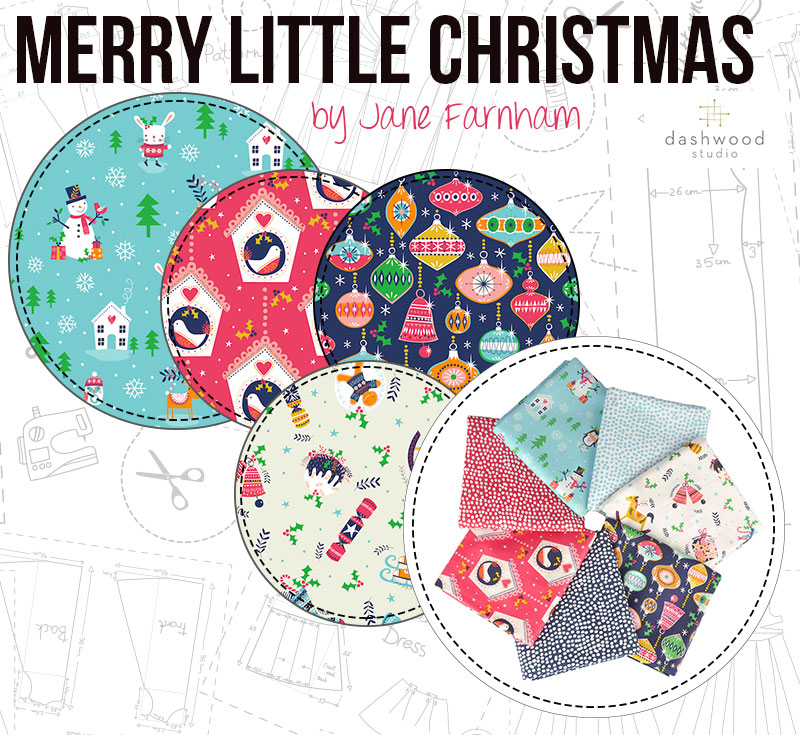 Merry Little Christmas by Jane Farnham for Dashwood Studio