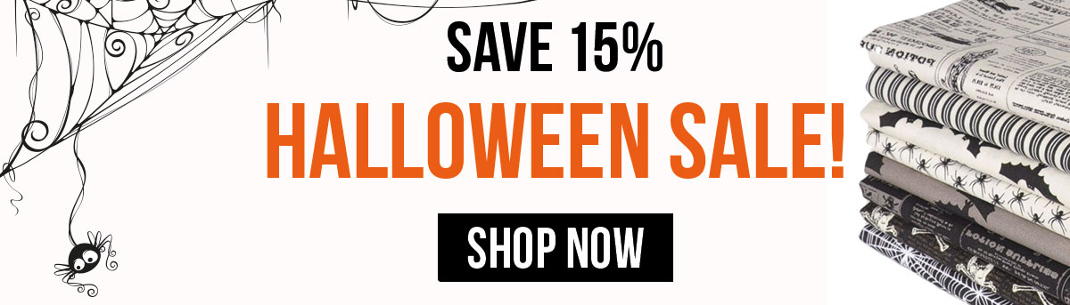 Save 15% On Halloween Fabrics