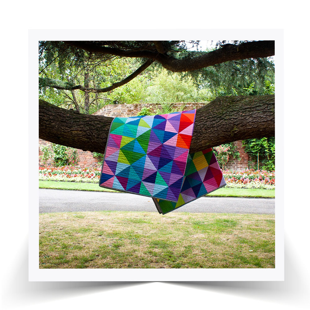See how the quilt stands out everywhere, even on a tree!