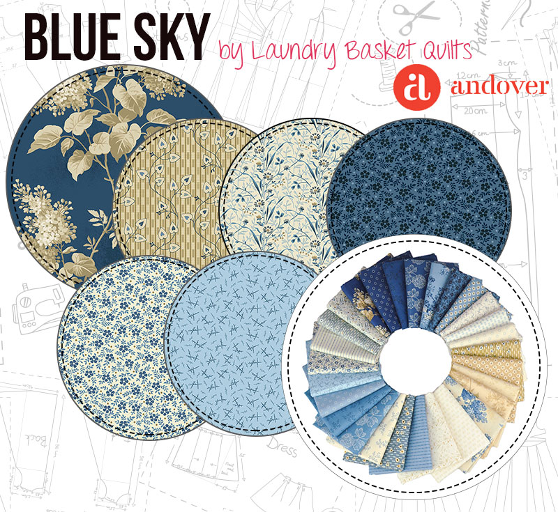 Blue Sky by Laundry Basket Quilts for Makower