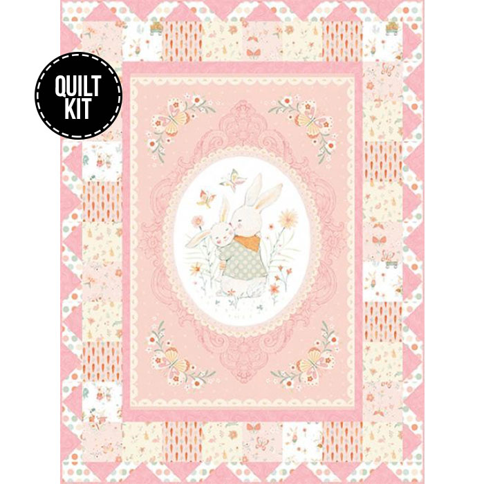 Pink bunny quilt kit!