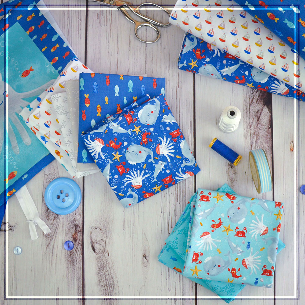 Sail Away is an adorable marine collection!