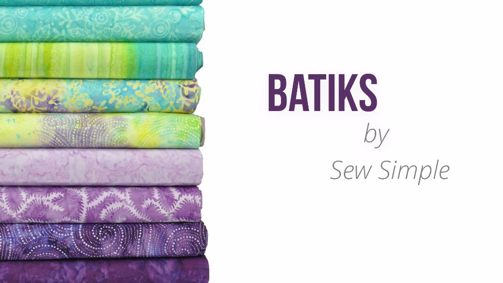 Blue to purple... These Batiks work well together!