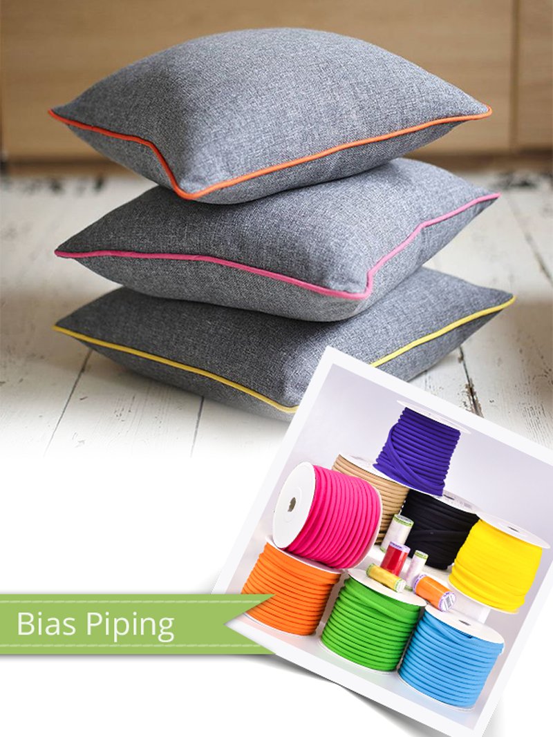 Bias piping is great for a refined finish to your projects!