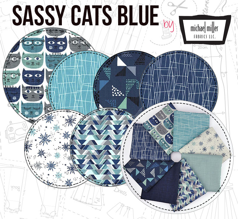 Sassy Cats Blue is a classy design with a touch of elegance!