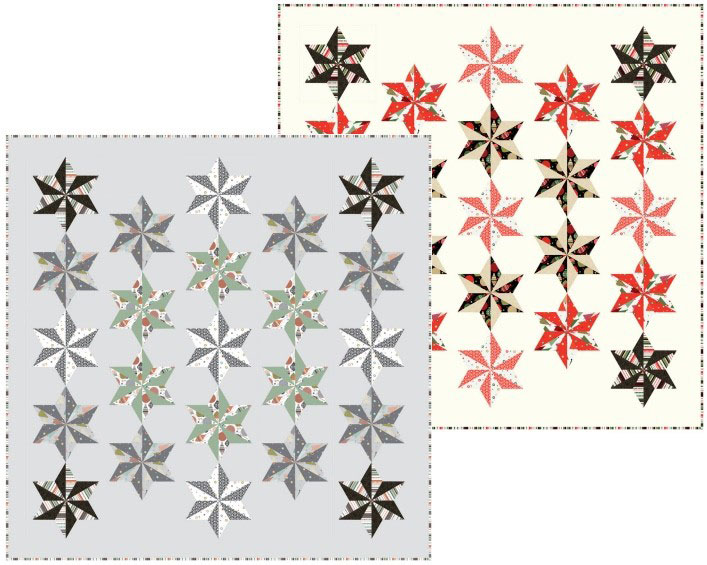 Modern Metallic Christmas is a stunning quilt kit!
