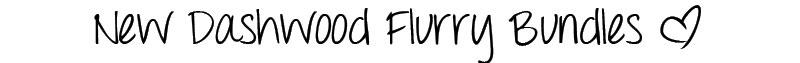 New Dashwood Flurry Bundles!