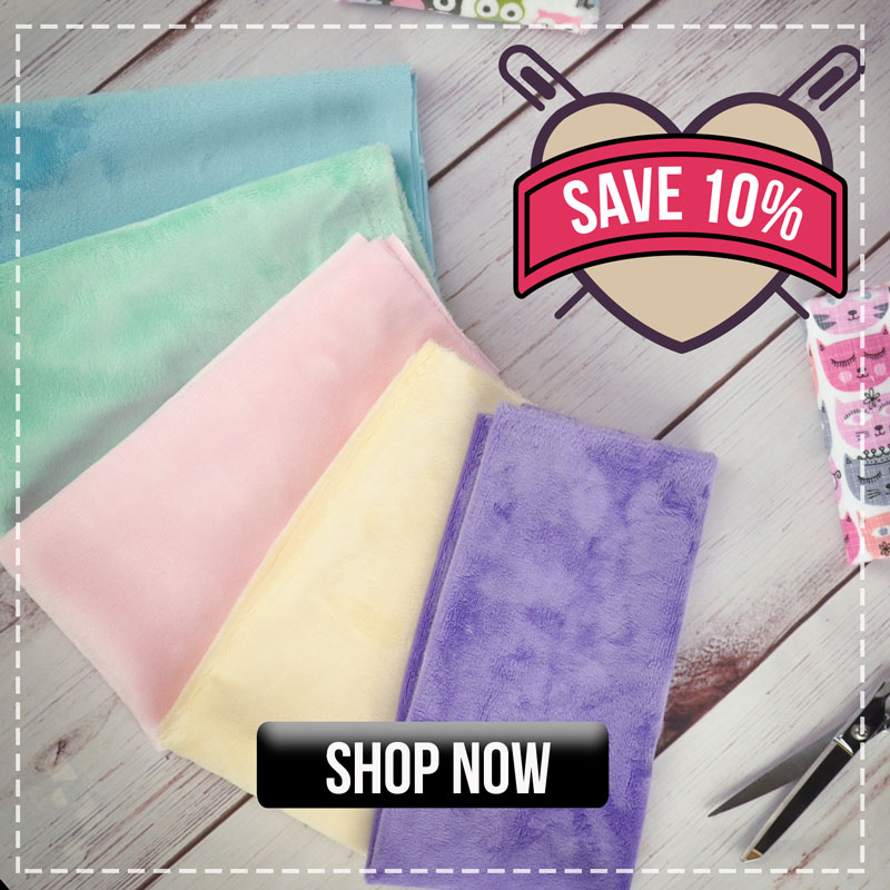 Save 10% on Plush Fabric!