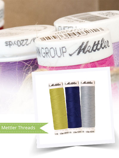 Mettler threads are available in over 500+ colours!