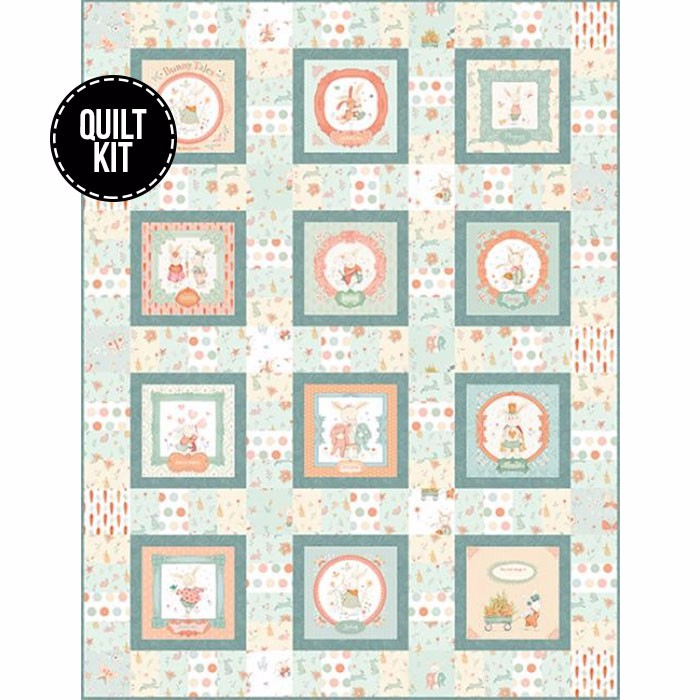 Blue bunny quilt kit!