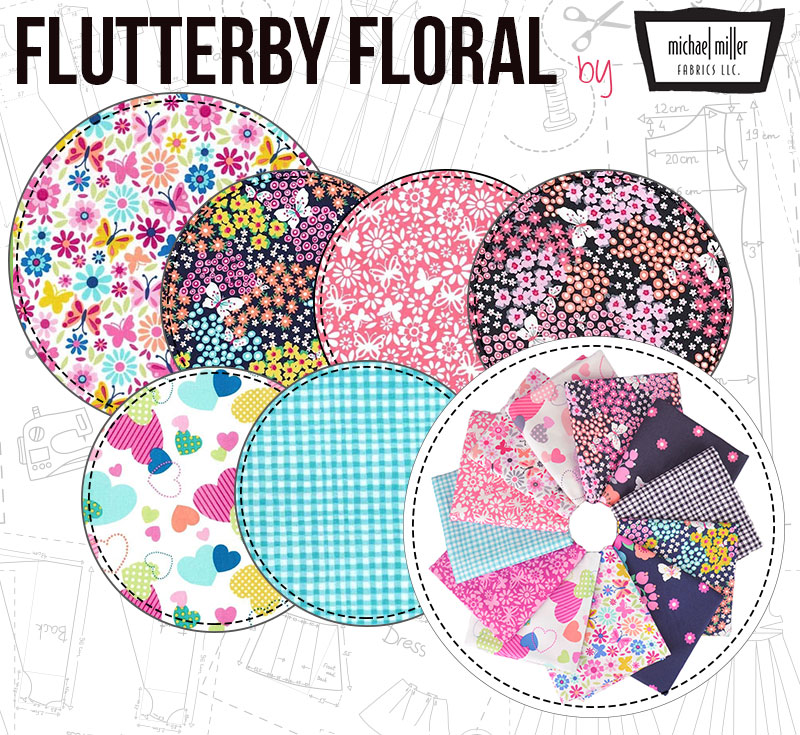 Flutterby Floral by Michael Miller
