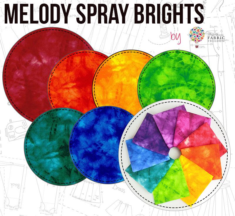 Melody Spray Brights by Fabric Freedom
