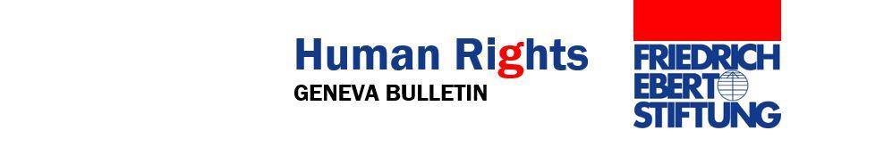 Human Rights Geneva Bulletin FES