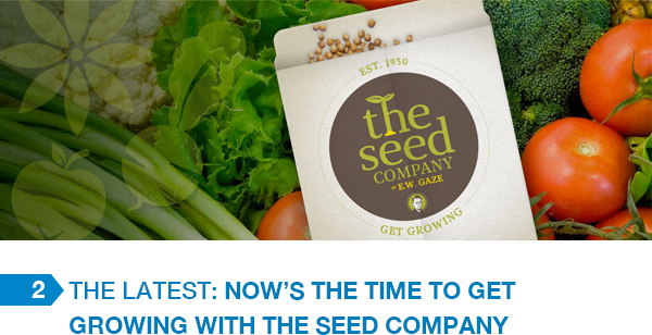 The Latest: Now's the Time to Get Growing with The Seed Company