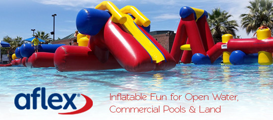 Aflex Technology Inflatable Fun for Open Water, Commercial Pools & Land