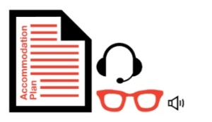 Paper, glasses and headphone