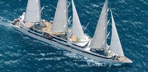 Moderne 3-Mast Luxus-Segelyacht