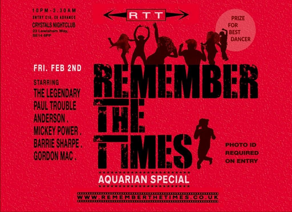 RTT Soul Night Piscean Special- Fri. March. 3rd