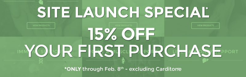 15% Off Site Launch Special