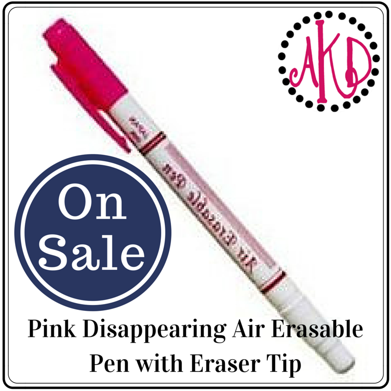 Disappearing Air Erasable Pens with Eraser Tip PINK