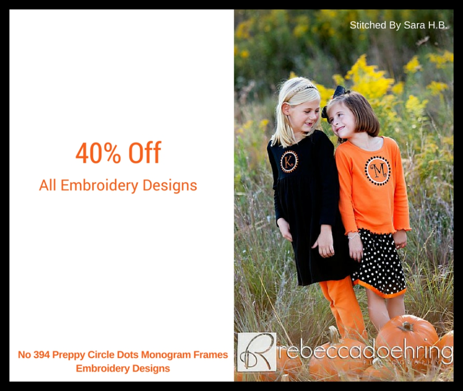 40% Off All Embroidery Designs