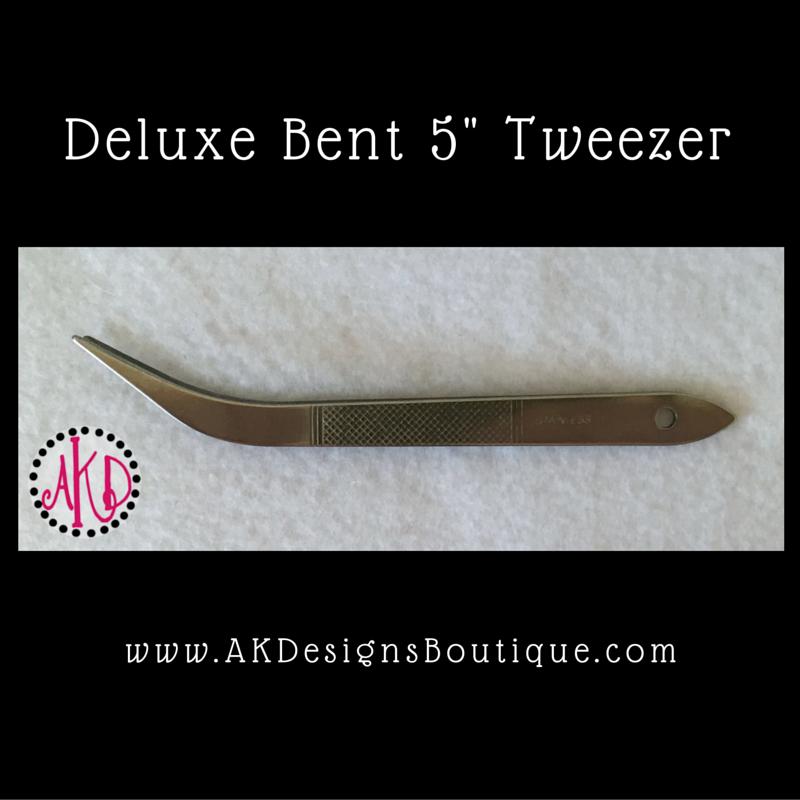 Deluxe Bent 5 inch Tweezers