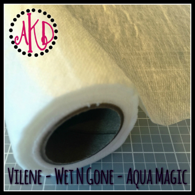 "Vilene [also called ""Wet N Gone"" or ""Aqua Magic""] ROLL - 29 inch x 10 yards"
