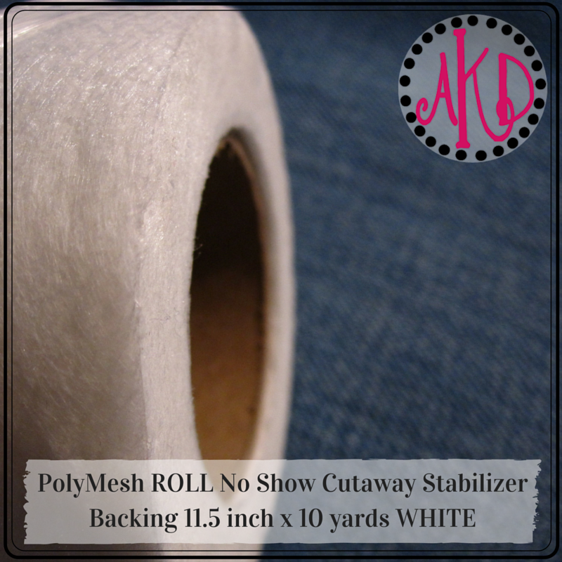 PolyMesh ROLL No Show Cutaway Stabilizer Backing 11.5 inch x 10 yards WHITE