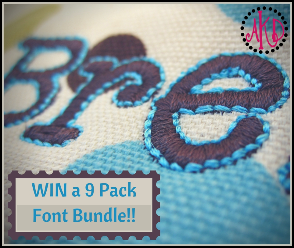 Win a 9 Pack Font Bundle on FB