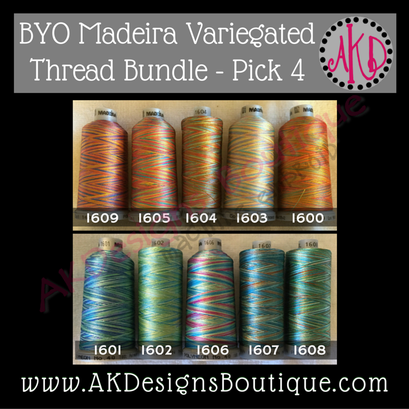 Madeira Variegated Polyneon Polyester 40 weight Thread Spools BUILD Your OWN Bundle 1100 yards each