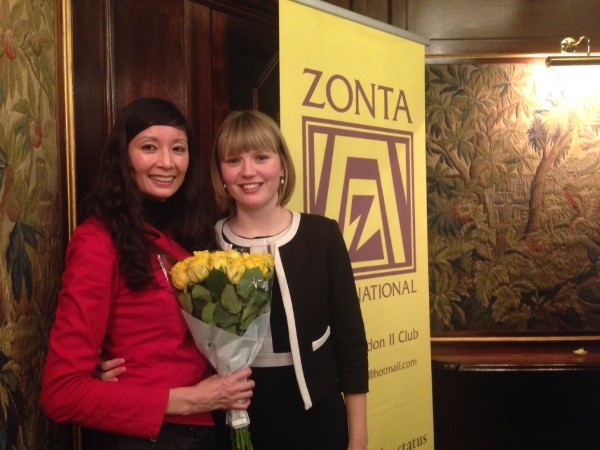 Angela Yin with barrister Charlotte Proudman