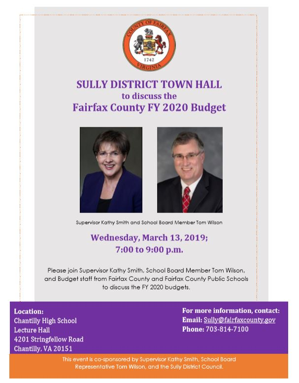 2019 Sully District Budget Town Hall