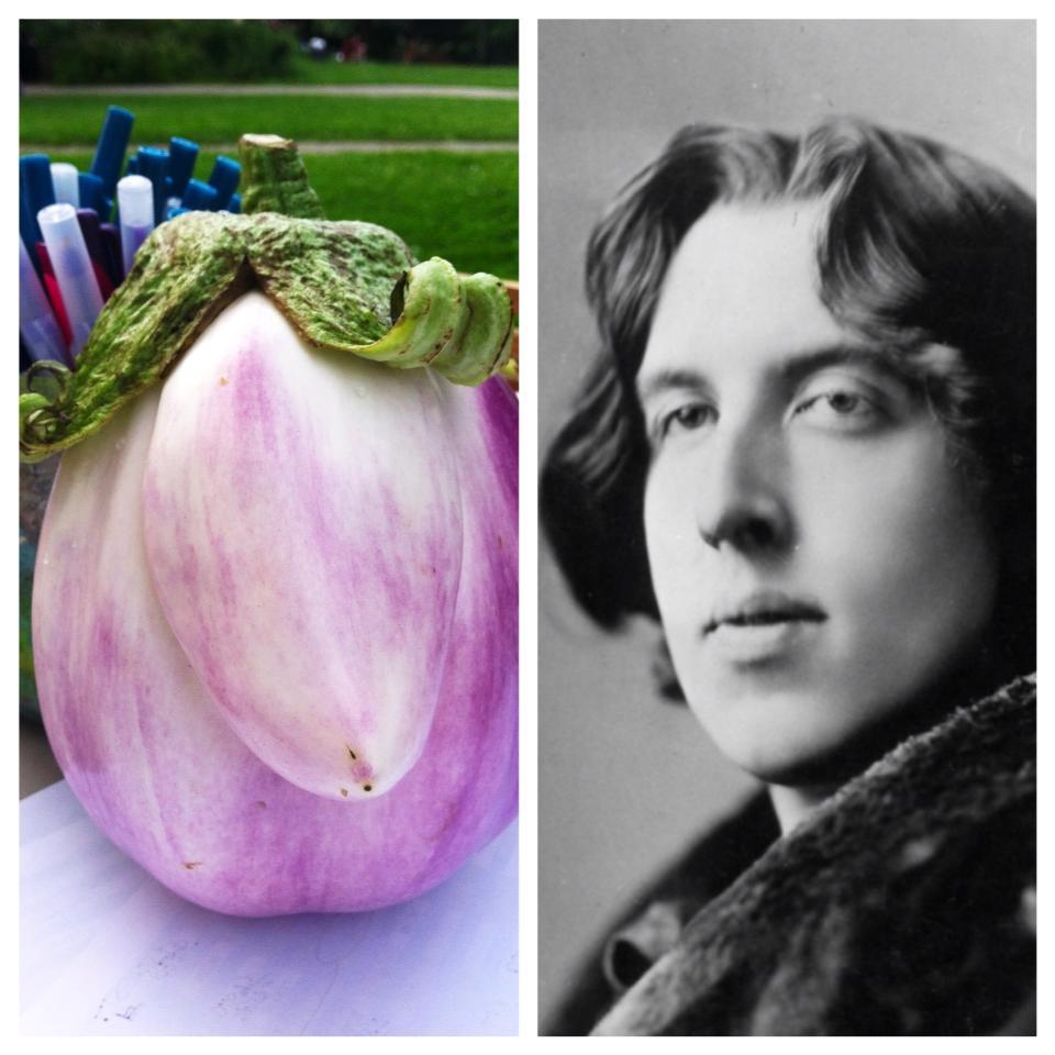 This eggplant looks just like Oscar Wilde