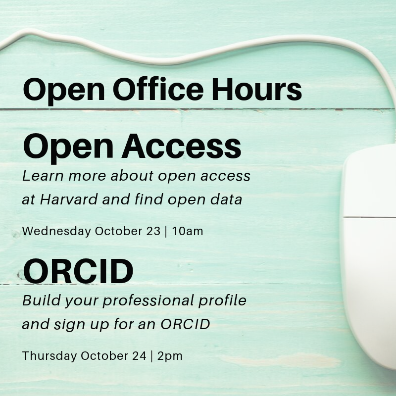 """Computer mouse with """"Open Office Hours"""" information"""